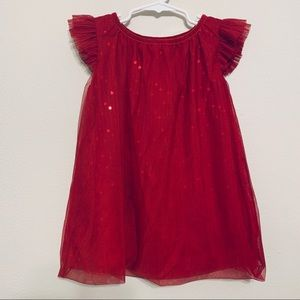 {Cat & Jack} Red Sequin Tulle Dress